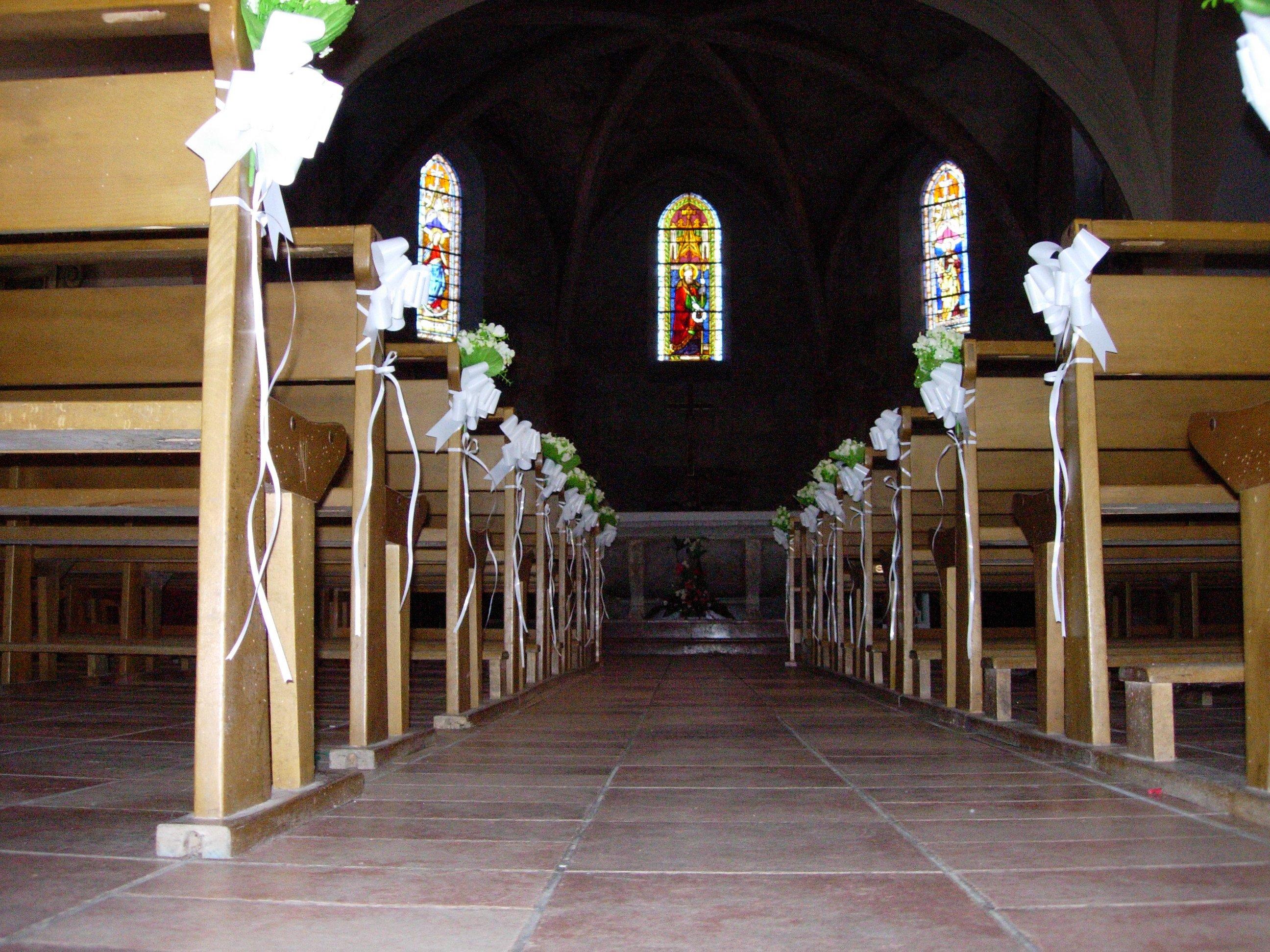 D coration d glise conseil deco mariage for Decoration eglise